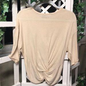 Zara Knit Crop Knot Sweater Tee